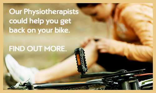 See a physiotherapist to help with your cycling injury