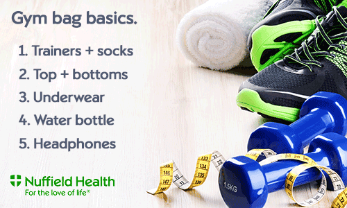 Gym bag basics - what to pack for the gym
