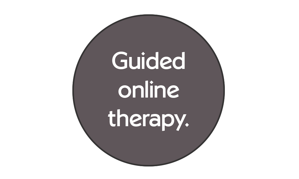 Guided online therapy