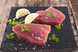 Tuna on a slate