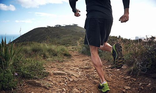 Running outdoors - fartlek training