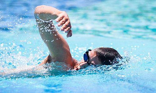 Swimming front crawl