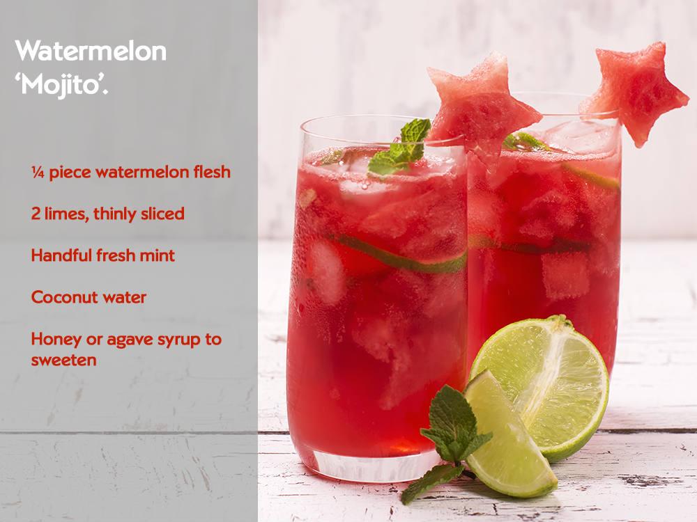 Watermelon 'mojito'