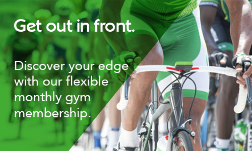 Get out in front. Discover your edge with our flexible gym membership.