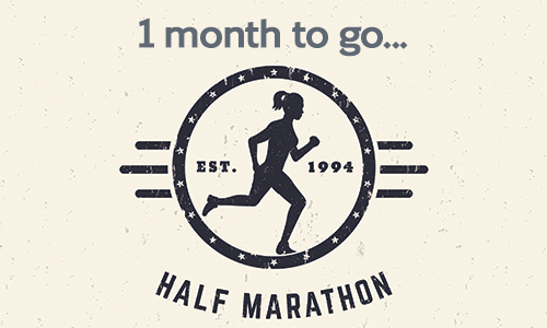 Half marathon - 1 month to go