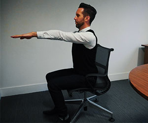 Chair-based arm exercise