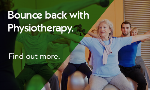 Bounce back with physiotherapy. Find out more