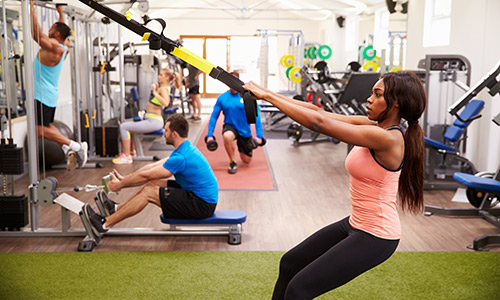 Resistance training in the gym