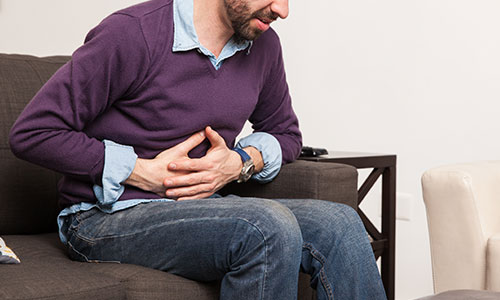 hernia pain on couch