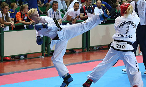 Sam Taylor at the European TaekwonDo Championships